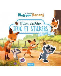 Mon cahier jeux et stickers – Le terrier