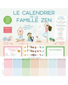 Le calendrier de la famille zen 2020-2021