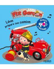 Léon prépare son camion