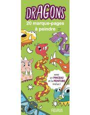 Marque-pages à peindre - dragons