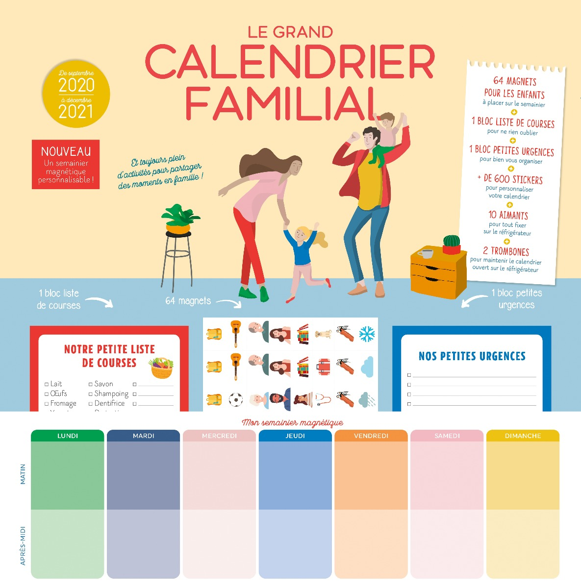 Couverture Le Grand Calendrier familial 2020-2021